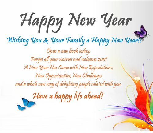 Happy New Year Best Quotes Wishes: Happy New Year Wishes For Family