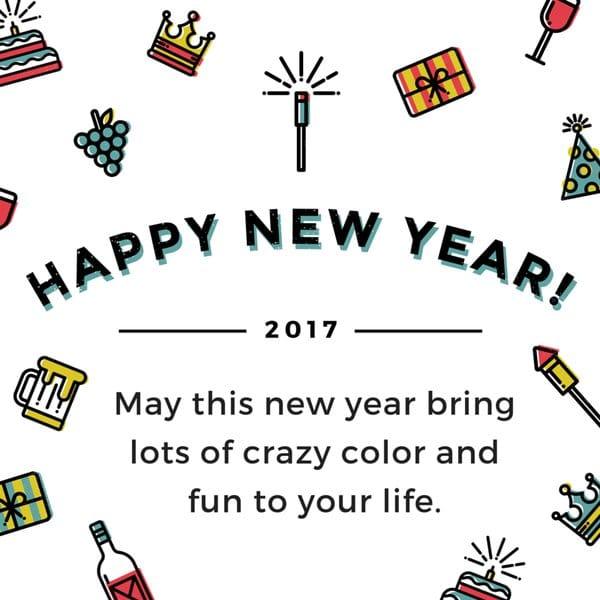 Happy New Year eCard 2017 - Greetings Card 2017