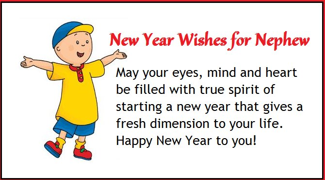 Happy New Year Wishes for Nephew | NYWQ