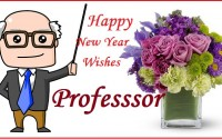Happy New Year Wishes for Professor