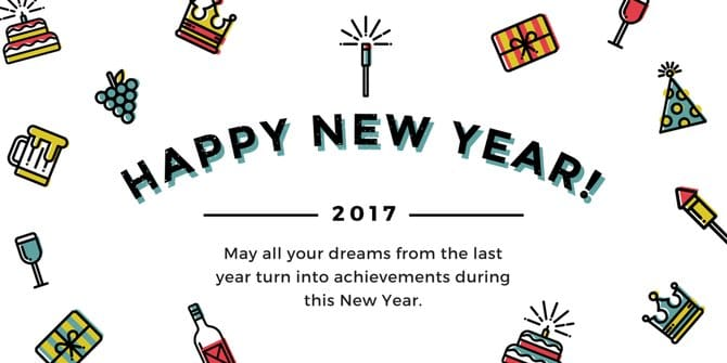 Happy New Year HD Wallpaper 2017