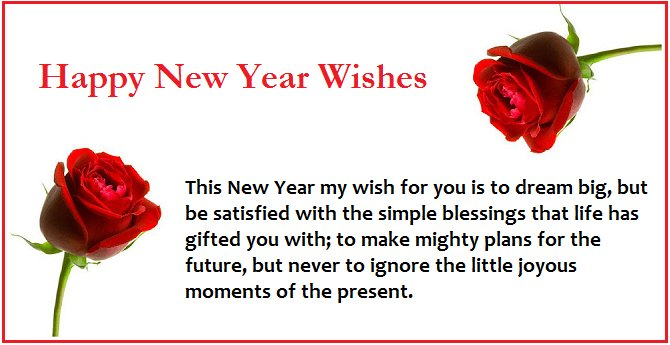 Happy New Year Sms Messages in English