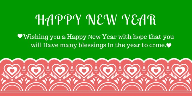 Happy New Year Sms for Lover 2017