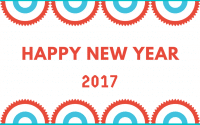 Happy New Year Greetings Card - eCard 2017