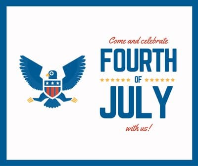 Happy 4th of July - Independence Day of America