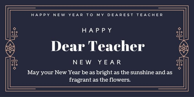 new year wishes for teacher