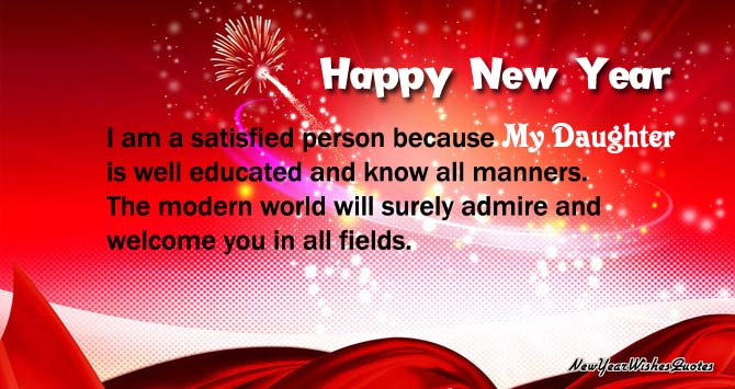 new year wishes for daughter