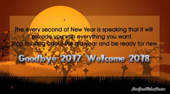 Goodbye 2017 Welcome 2018 Wishes