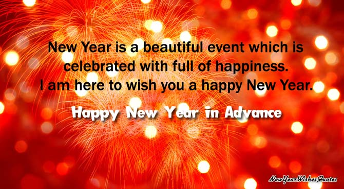 new yea wishes in advance